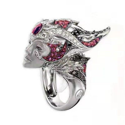 Queen Avatar Crystal Ring