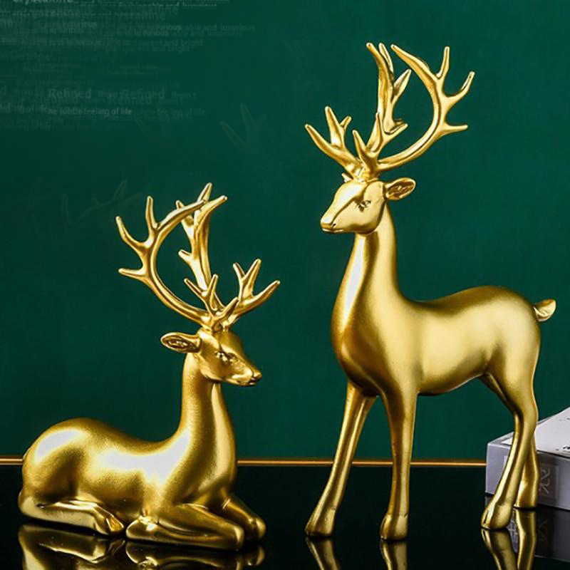 Nordic Elk Sculpture Set