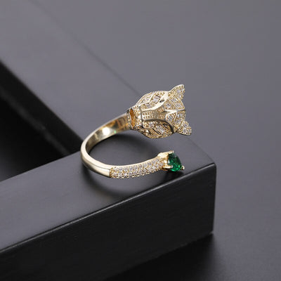 Leopard Zircon Ring