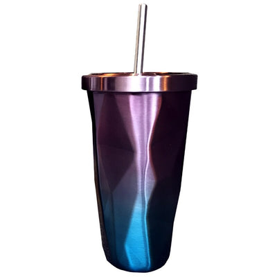 Stainless Steel Rhombus Straw Cup