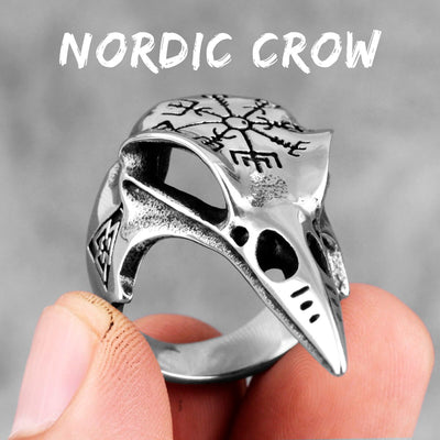 Norse Crow Ring