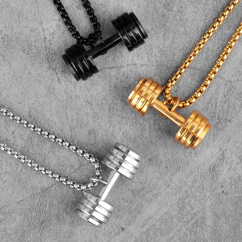 Indestructible Dumbbell Necklace