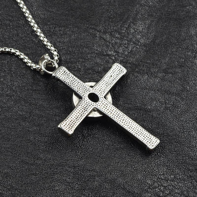 Blue Stone Cross Pendant