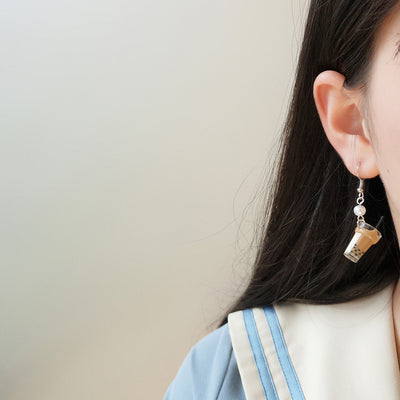 Boba Milk Tea Earrings