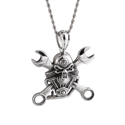Skull Wrench Pendant