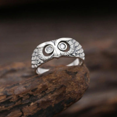 Zircon Owl Ring