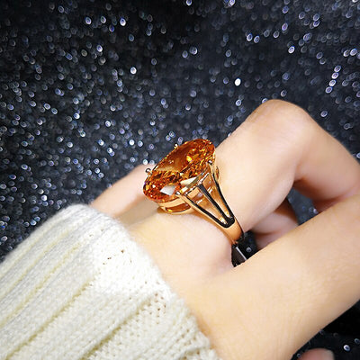 Champagne Crystal Ring