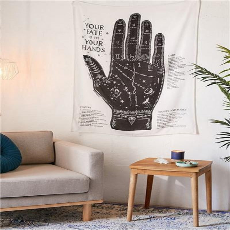 Palmistry Hand Tapestry
