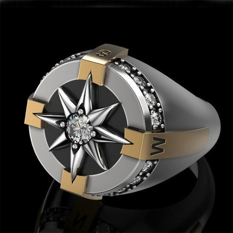 Nordic Viking Compass Ring