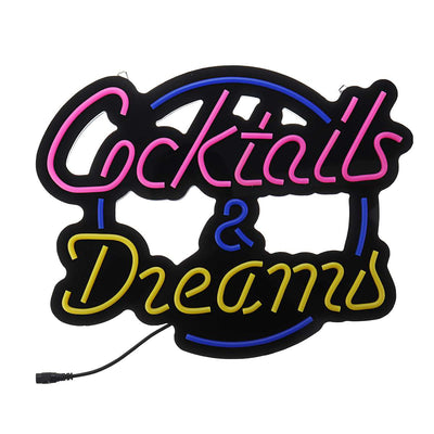 Cocktails & Dreams Neon Light