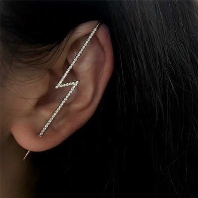 Lightning Strike Cuff Earring