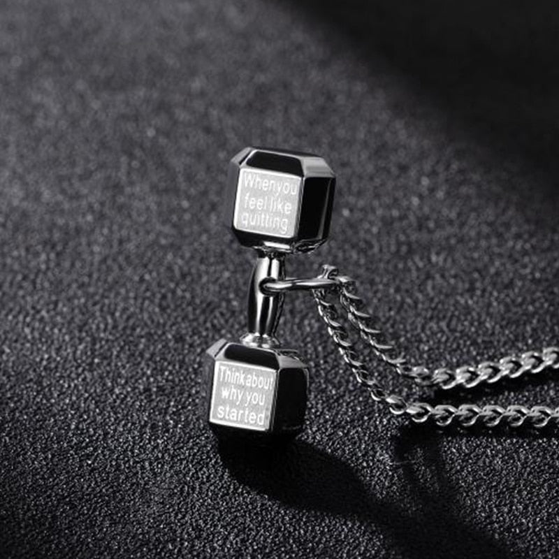 Vigorous Dumbbell Necklace