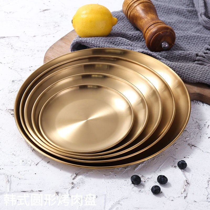 Brass Gold Snack Plate