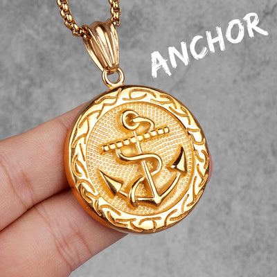 Golden Anchor Pendant