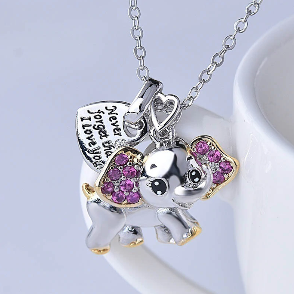 Never Forget that I Love You Elephant Pendant