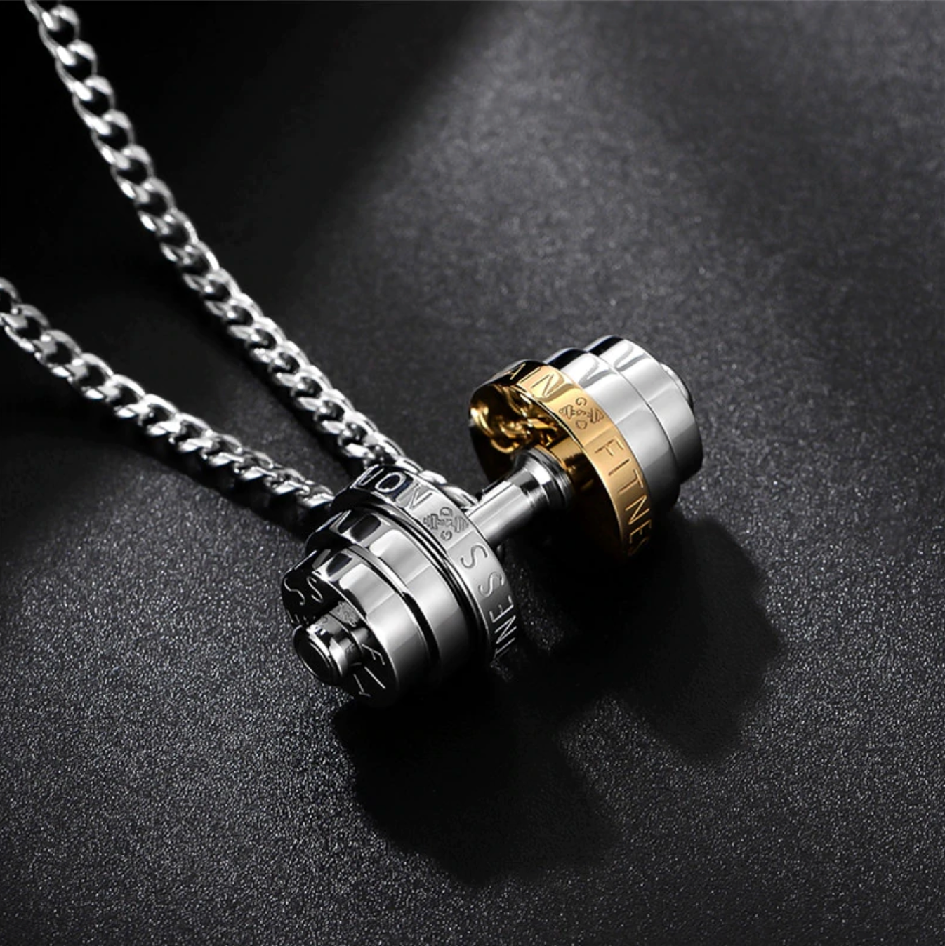 Dumbbell Chain Necklace