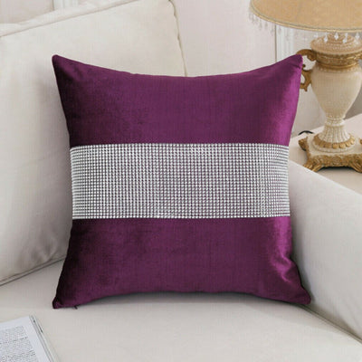 Diamond Patchwork Pillow Case