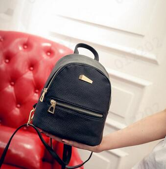 Girls Leather Travel Backpack