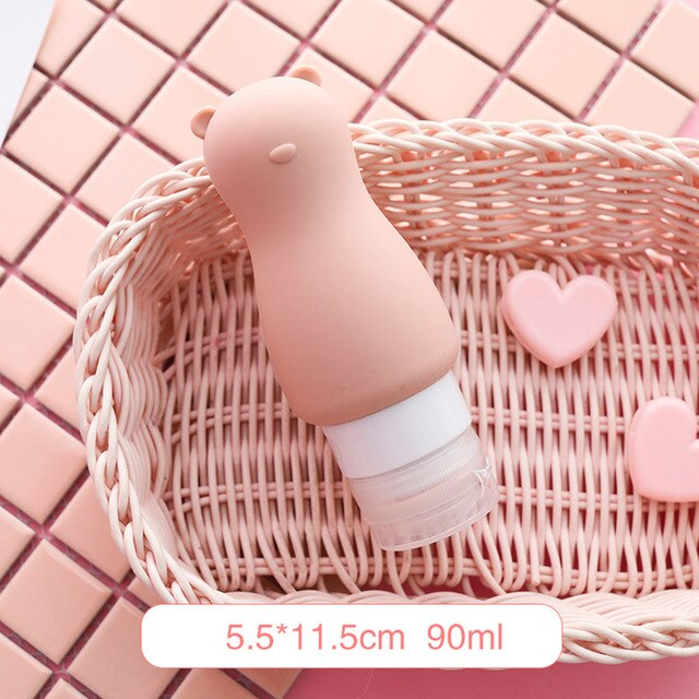 Portable Silicone Refillable Bottle Empty Travel Packing - Squeeze Containers ( 5 Colors )