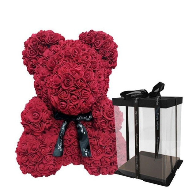 Valentine's Day Gift 25cm Red Rose Teddy Bear