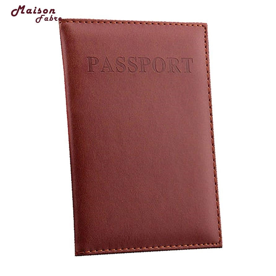 Leather Travel Passport Book - Card Cover