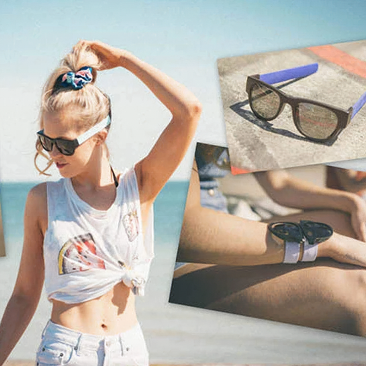 Slap-On Folding Sunglasses