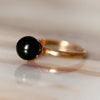Luna Estrella Full Moon Black Pearl Ring - Gold