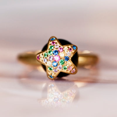 Luna Estrella Morning Star Ring - Gold