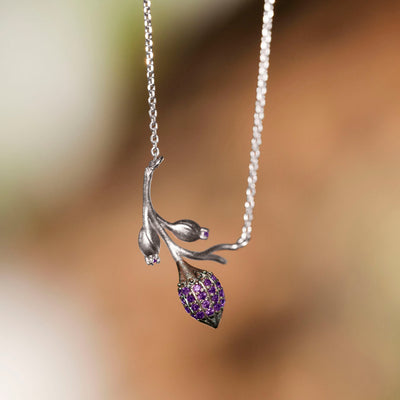 Limpias Necklace Silver - Purple Zirconia
