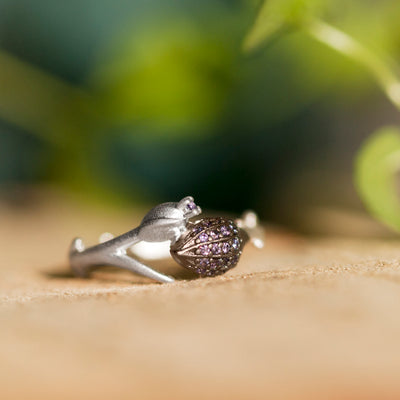 Limpias Ring Silver - Purple Zirconia