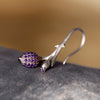 Limpias Earrings Silver - Purple Zirconia