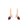 Limpias hook earrings with pink zirconias in rose gold vermeil