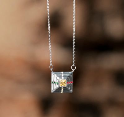 Duality Point Necklace - Silver