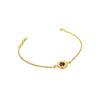 Red garnet flower bracelet in gold vermeil.