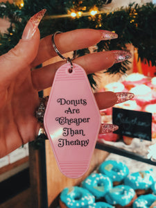 DONUT THERAPY KEYRING