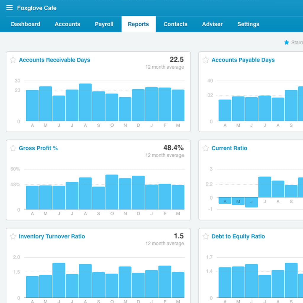 Xero Business Dashboard