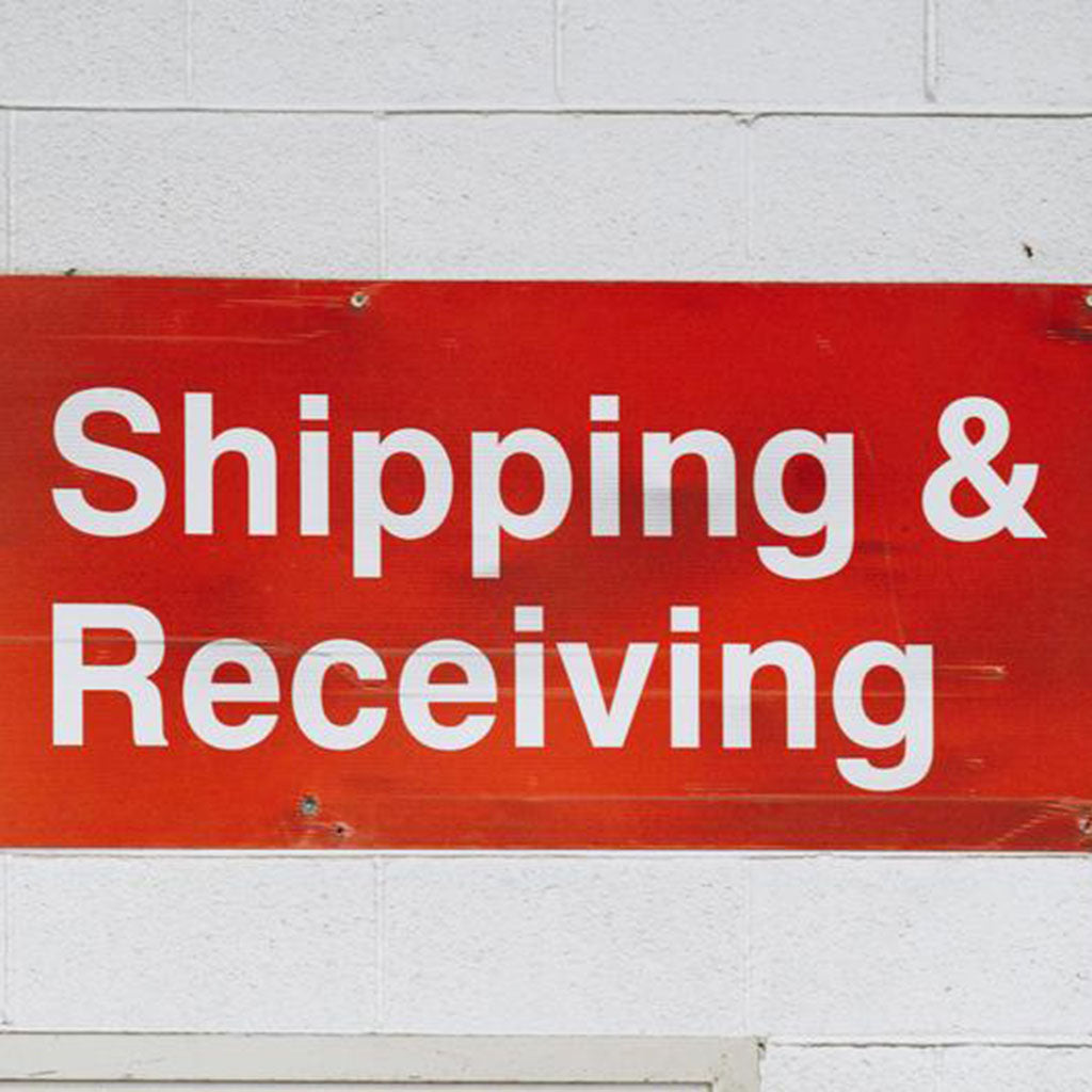 SHIPPING & RECEIVING SIGN // Photo by Nicole De Khors from Burst