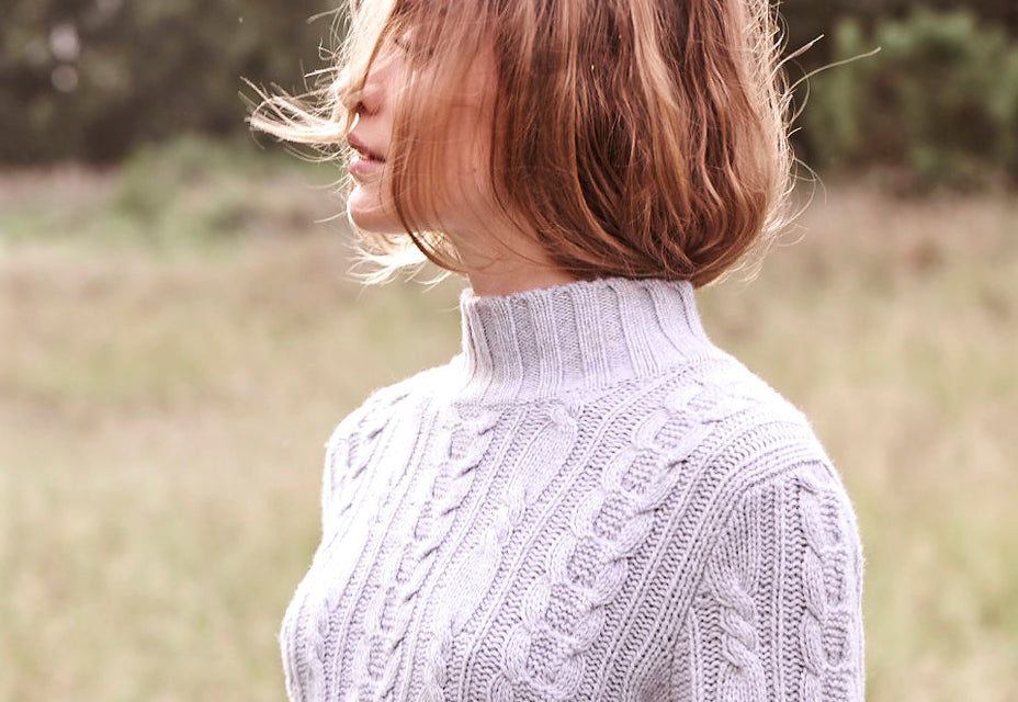 Sonya Hopkins pure cashmere Lauren cable knit