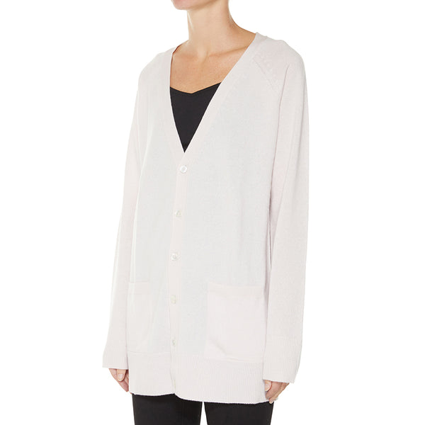 Cashmere James Boyfriend Cardigan in Blush - sonyahopkins.com