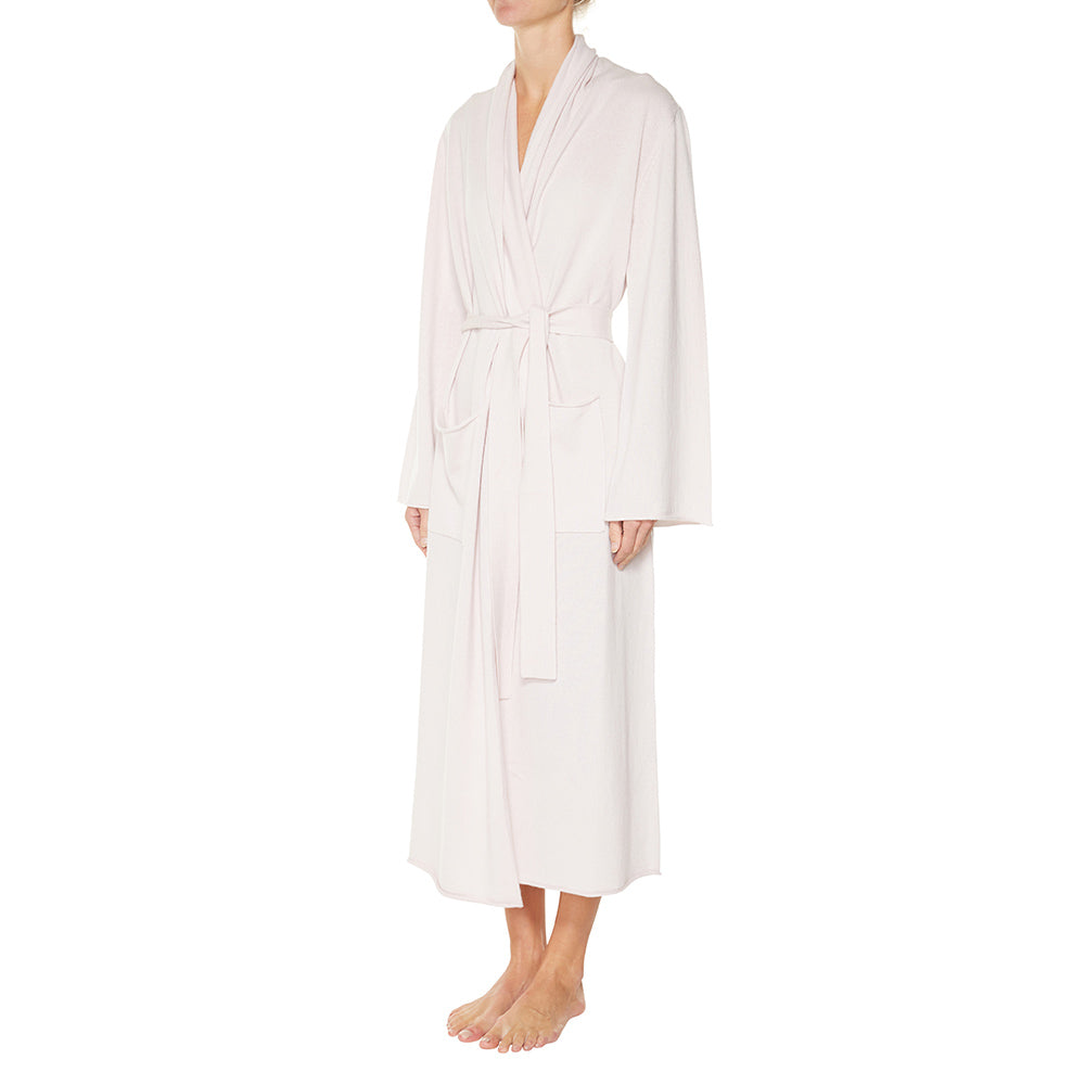 Cashmere Luxe Lounge Robe in Blush - sonyahopkins.com
