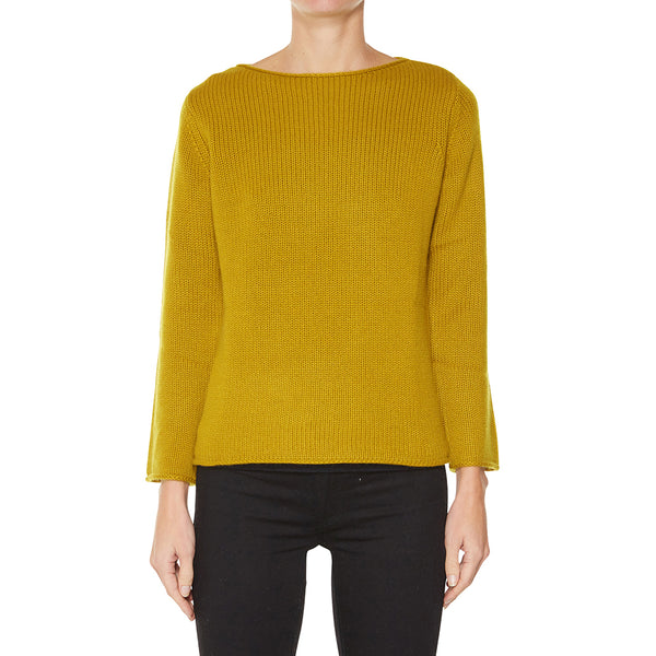 Cashmere Riviera Boatneck in Gold - sonyahopkins.com