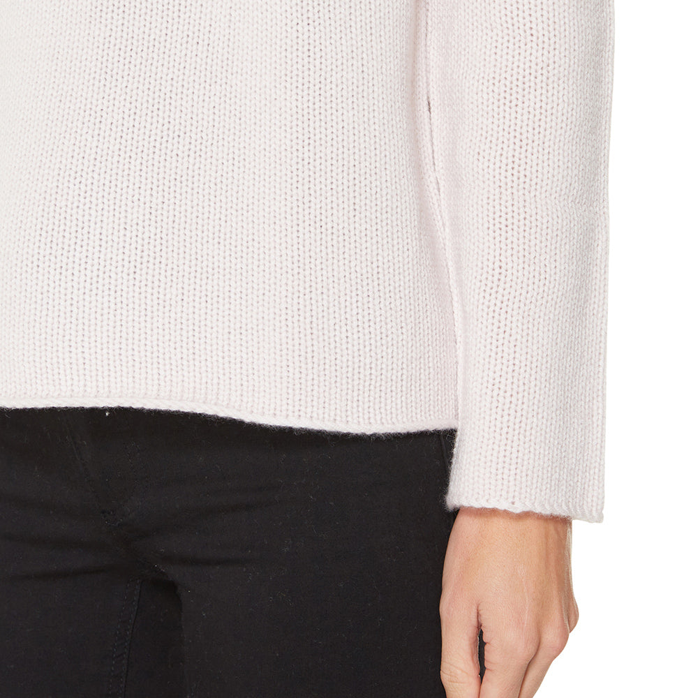 Cashmere Frankie Relaxed Turtleneck in Blush - sonyahopkins.com