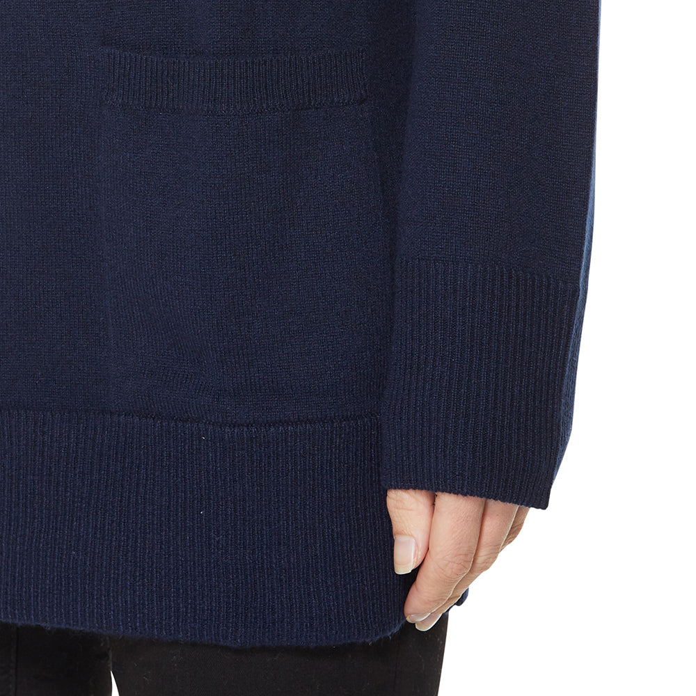 Cashmere Madison Cardigan in Pale Marle Grey - sonyahopkins.com