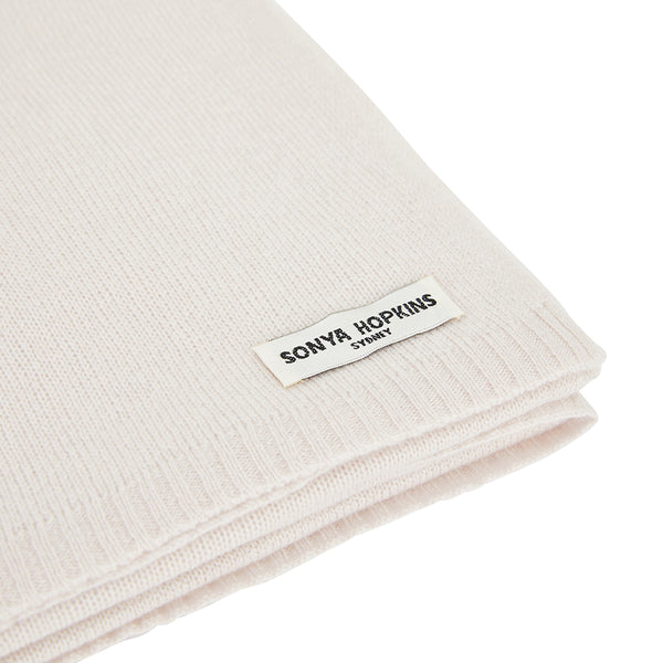 100% Cashmere Jean Scarf in Blush