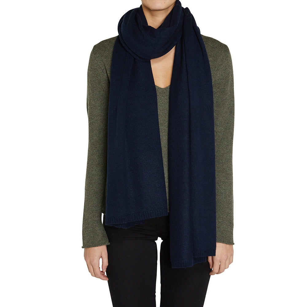 100% Cashmere Jean Wrap in Ink - sonyahopkins.com