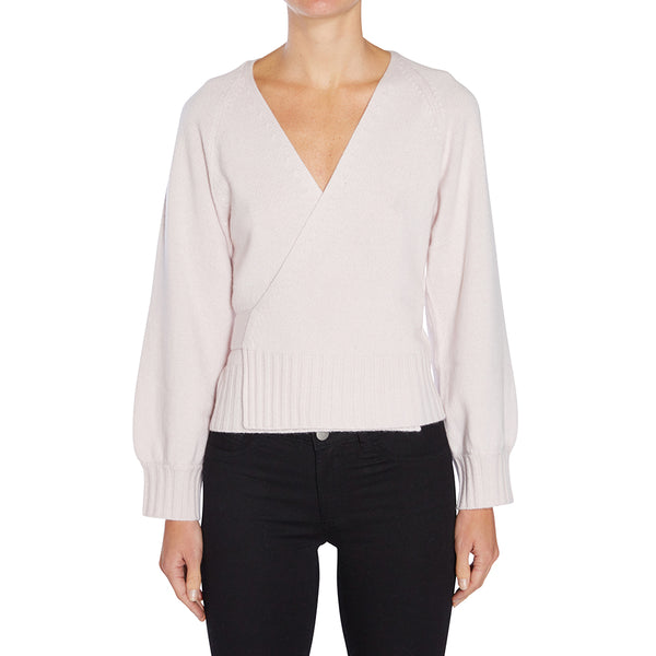 Cashmere Stevie Ballet Wrap in Blush - sonyahopkins.com