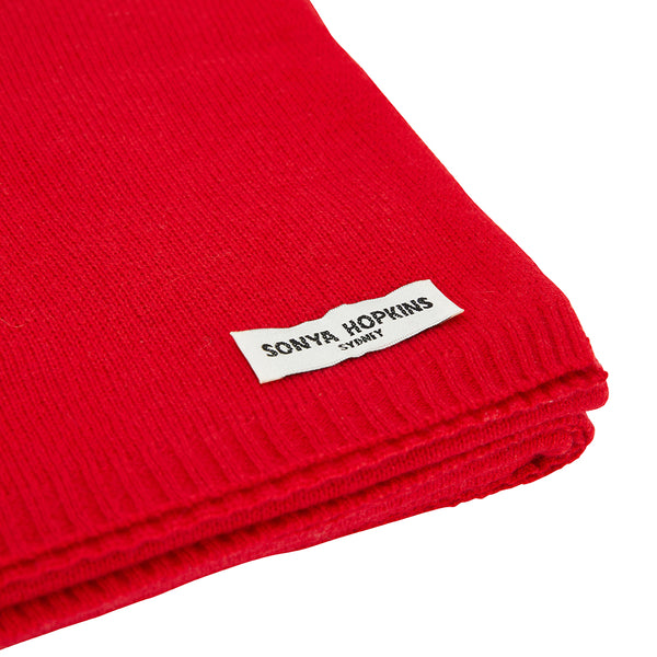 100% Cashmere Jean Scarf in Red - sonyahopkins.com