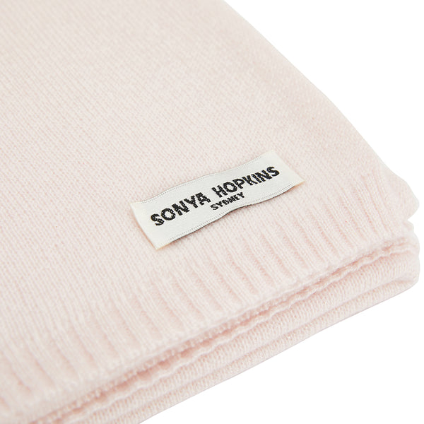 100% Cashmere Jean Scarf in Powder Pink - sonyahopkins.com