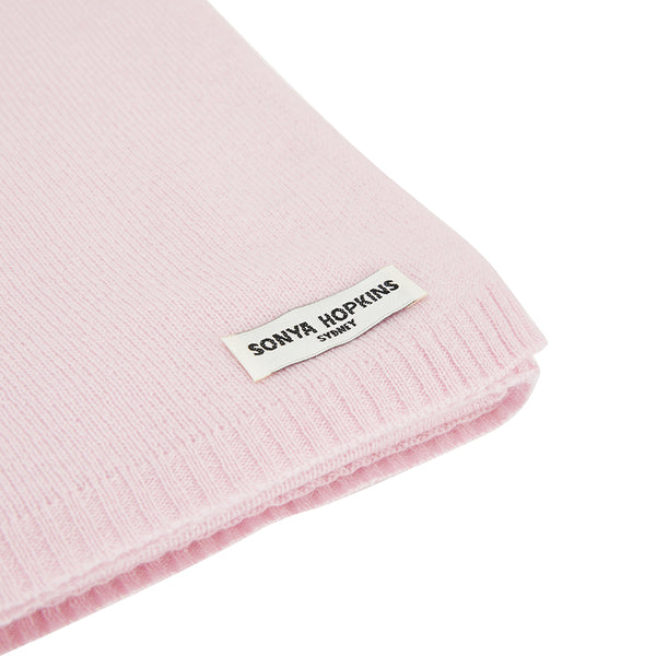 Sonya Hopkins pure cashmere scarf in blossom pink