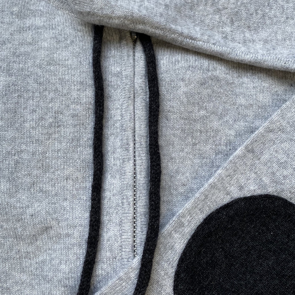 Cashmere Kids Hoody in Pale Marle Grey with Charcoal - sonyahopkins.com